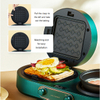 3 In 1 Easy Clean Nonstick Detachable Plates Press Grill Waffle Iron Panini Sandwich Breakfast Maker with fry pan