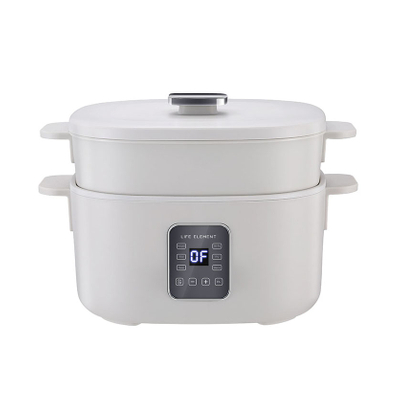 Electric Food Warmer Electric Skillet Electric Multi Cooker Food Steamer Hot Pot with Nonstick Material